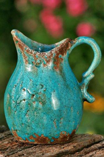 Terracotta vase gef e terrakotta keramik f r heim k che garten balkon und terrasse for Terracotta gartendekoration